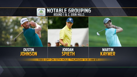 Last three US Open champions grouped together at Erin Hills