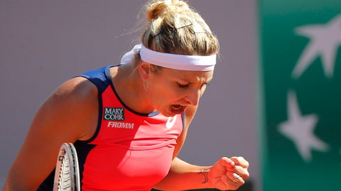 Ostapenko wins birthday battle with Bacsinszky to reach French Open final